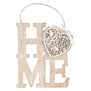 Tablita decorativa din lemn Home 16x20 cm