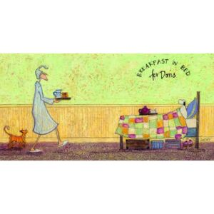 Tablou Canvas Sam Toft - Breakfast in bed for Doris, (100 x 50 cm)