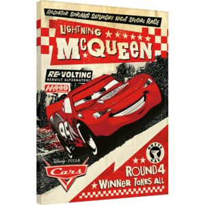 Cars - Lightning Mcqueen Race Tablou Canvas, (60 x 80 cm)