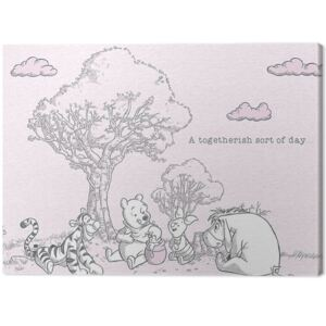 Winnie The Pooh - Togetherish Tablou Canvas, (80 x 60 cm)