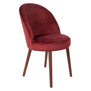 Scaun dining catifea rosie Barbara Red | DUTCHBONE