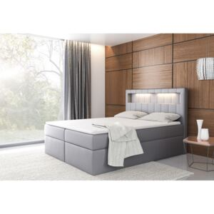 Expedo Pat tapițat boxspring CASIA + topper, 180x200, madryt 190