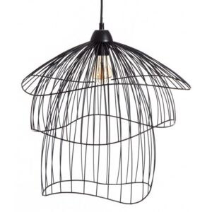 Lampa suspendata din metal Ceiling Lamp Black Metal Ø43cm |IXIA