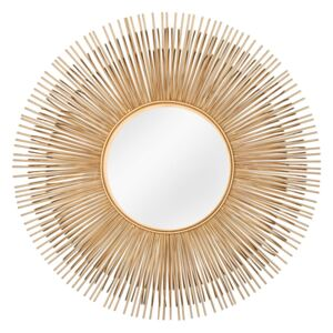 Oglinda aurie ø61cm Mirror Sunlight M Gold | INVICTA INTERIOR