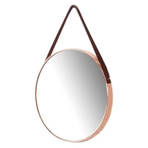 Oglinda cupru ø45cm Mirror Wall Portrait Copper | INVICTA INTERIOR