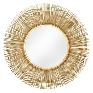 Oglinda aurie ø88cm Mirror Sunlight L Gold | INVICTA INTERIOR