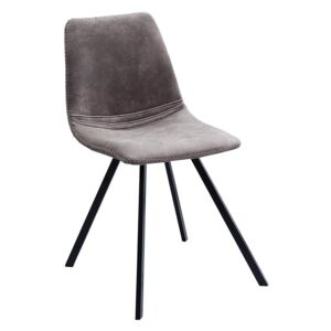 Scaun dining gri inchis Chair Amsterdam Retro Taupe Grey | INVICTA INTERIOR