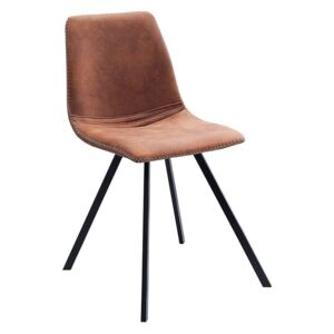 Scaun dining maro Chair Amsterdam Retro Vintage Light Brown | INVICTA INTERIOR