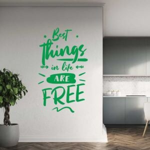 GLIX Best things - autocolant de perete Verde 40x20 cm