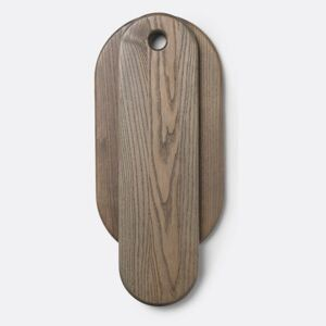 Set 2 tocatoare din lemn de stejar Stage Board Rustic Grey Ferm Living