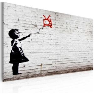 Tablou Bimago - Girl with TV (Banksy) 60x40 cm