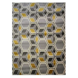 Covor Flair Rugs Cocktail Mimosa Grey Ochre, 80 x 150 cm