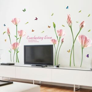 Sticker perete Purple blooming flowers 60x90cm