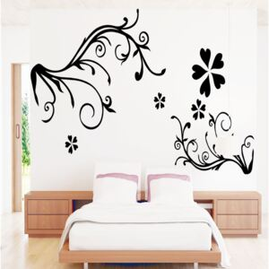 Sticker perete Black Flower Decor