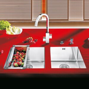 Chiuveta bucatarie inox CookingAid DOUBLE BOWL UNDERMOUNT