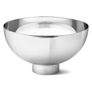 Vase decorative Ilse Bowl Large by Georg Jensen in polished stainless steel