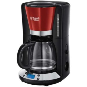 Cafetiera Russell Hobbs Colours Plus+ Red 24031-56, 1100 W, 1.25 L, Tehnologie WhirlTech, Rosu Negru
