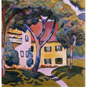 House in a Landscape Reproducere, August Macke