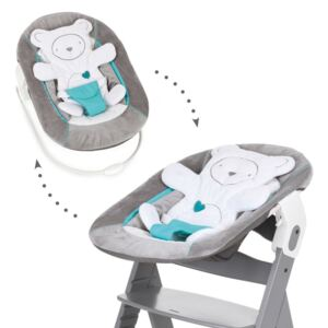 Hauck - Sezlong Alpha Bouncer 2 in 1 Hearts, Grey