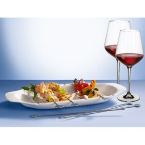 Set Barbeque Villeroy & Boch platou frigarui Barbeque Passion + 6 tepuse + 2 pahare vin rosu La Divina 252mm