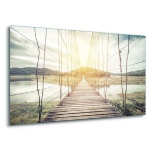 GLIX Tablou pe sticlă - Rope Bridge 4 x 30x80 cm