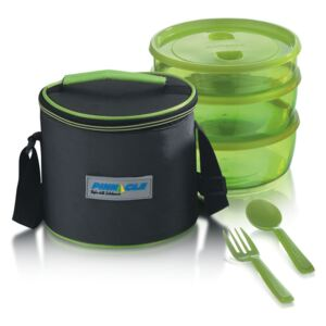 Set Lunch Box PRIDE Thermo, 6 piese, Verde