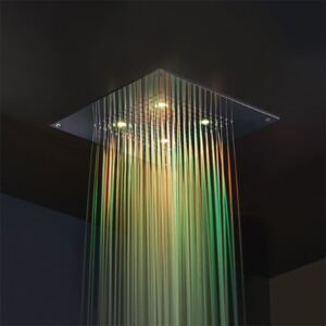 Baterie dus Showerhead with chromotherapy 40x40 cm Frattini