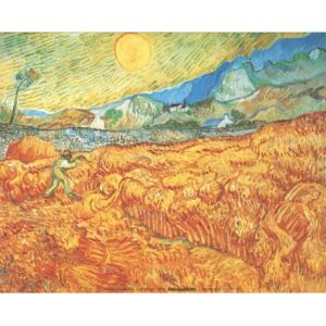 Wheat Field with Reaper, 1889 Reproducere, Vincent van Gogh, (70 x 50 cm)