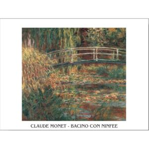 The Water-Lily Pond Reproducere, Claude Monet, (30 x 24 cm)