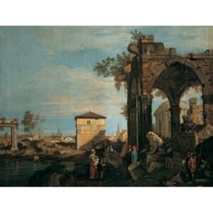 The Landscape with Ruins I Reproducere, Canaletto, (80 x 60 cm)