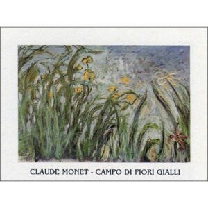 The Yellow Iris Reproducere, Claude Monet, (30 x 24 cm)