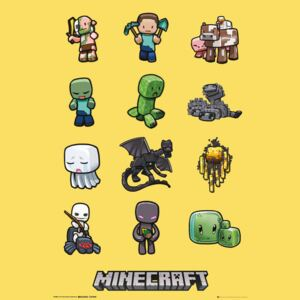 Minecraft - characters Poster, (61 x 91,5 cm)