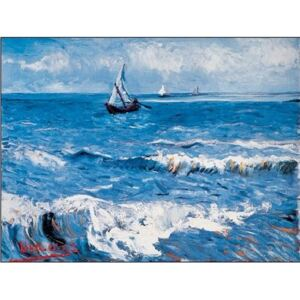 Seascape at Saintes-Maries, 1888 Reproducere, Vincent van Gogh, (30 x 24 cm)