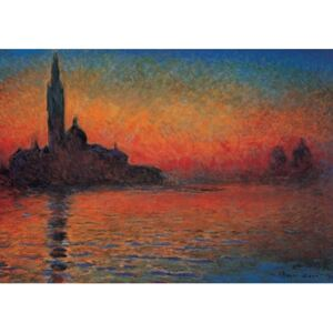San Giorgio Maggiore at Dusk - Dusk in Venice (Sunset in Venice, Venice Twilight) Reproducere, Claude Monet, (30 x 24 cm)