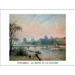 La Seine et le Louvre - The Seine and the Louvre, 1903 Reproducere, Camille Pissarro, (30 x 24 cm)