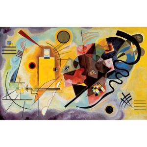 Yellow, Red, Blue Reproducere, Kandinsky, (30 x 24 cm)