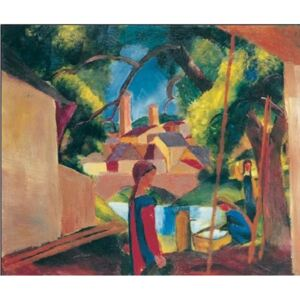 Kids At The Fountain Reproducere, Macke August, (30 x 24 cm)