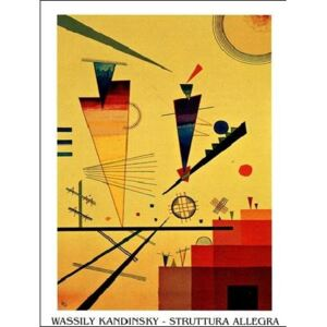 Merry Structure Reproducere, Kandinsky, (50 x 70 cm)
