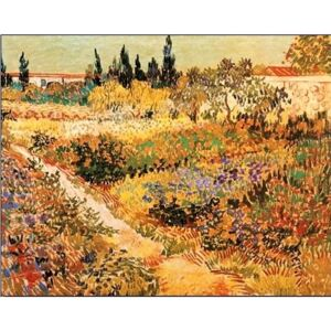 Flowering Garden with Path, 1888 Reproducere, Vincent van Gogh, (30 x 24 cm)