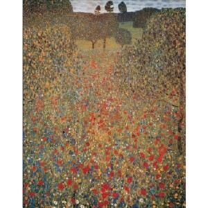 Meadow With Poppies Reproducere, Gustav Klimt, (24 x 30 cm)