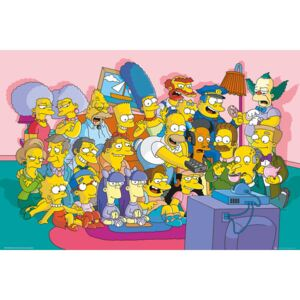 The Simpsons - Couch Cast Poster, (91,5 x 61 cm)