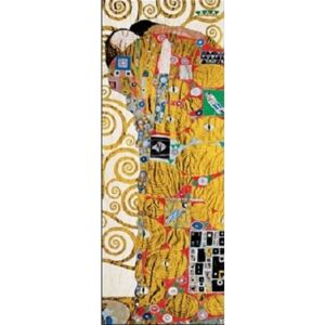 The Fulfillment (The Embrace) part - Stoclit Frieze, 1909 Reproducere, Gustav Klimt, (35 x 100 cm)