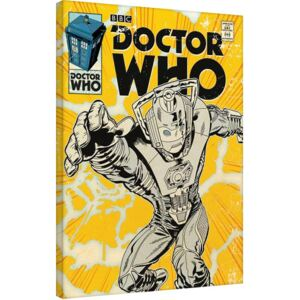 Doctor Who - Cyberman Comic Tablou Canvas, (60 x 80 cm)
