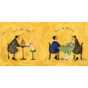 Sam Toft - Tea for two, tea fro three Tablou Canvas, (100 x 50 cm)