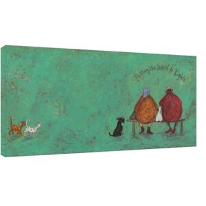 Sam Toft - Putting the words to right Tablou Canvas, (100 x 50 cm)