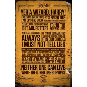 Harry Potter - Quotes Poster, (61 x 91,5 cm)