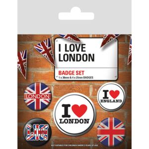 Set insigne I Love London