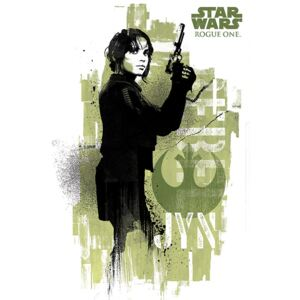Rogue One: Star Wars Story - Jyn Grunge Poster, (61 x 91,5 cm)