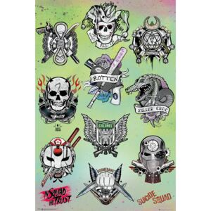 Suicide Squad - Tattoo Parlor Poster, (61 x 91,5 cm)