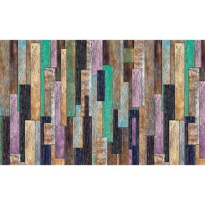 Wood Planks Painted Rustic Fototapet, (104 x 70.5 cm)